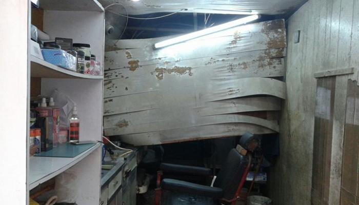 سقوط سقف محل في صيدا القديمة