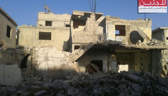 البيوت المدمرة في مخيم درعا جنوب سورية