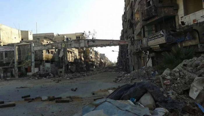 مدخل مخيم اليرموك