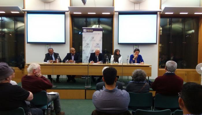 أعضاء من مجلس العموم البريطاني في جلسة نقاش حول اللاجئين الفلسطينيين