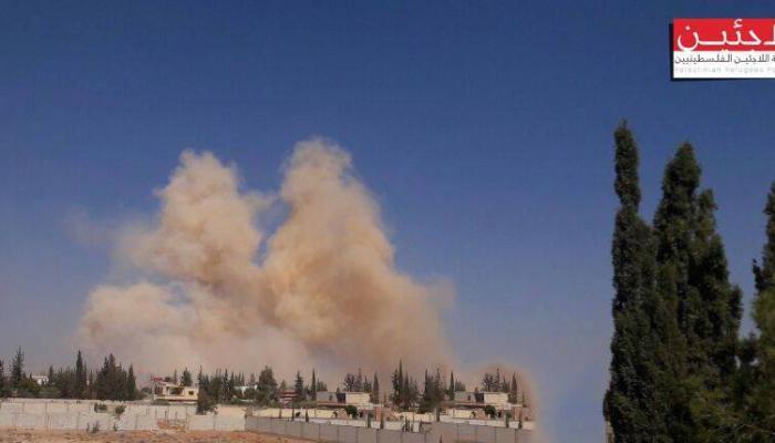 من القصف على مخيم خان الشيح