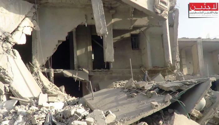 دمار كبيرفي مخيّم درعا جرّاء قصف قوّات النظام لليوم الثاني على التوالي