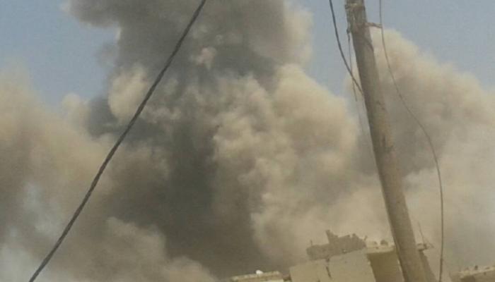 تواصل القصف العنيف على مخيّم درعا والأهالي يناشدون إغاثتهم