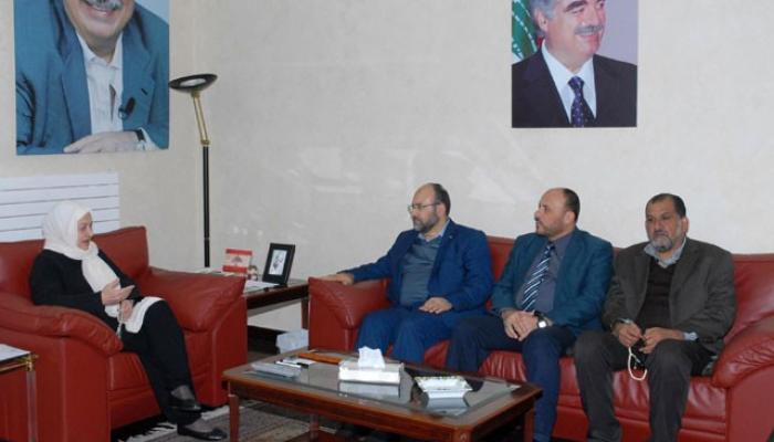 بركة في لقاء مع السيّدة الحريري: يجب معالجة الإشكالات الفلسطينية الداخلية على طاولة الحوار