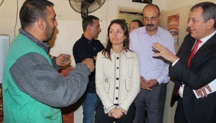 لبنان - الوفد خلال زيارة مخيم نهر البارد