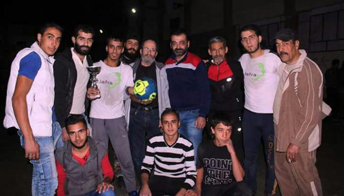 جنوب العاصمة دمشق.. فريق جفرا الرياضي يفوز بكأس دوري أبطال كرة القدم للرجال