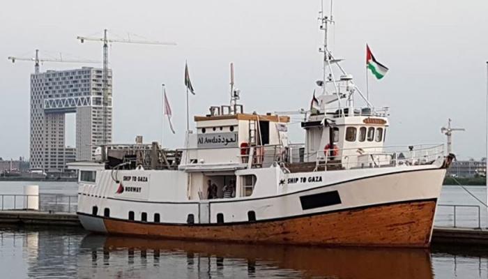 """سفينة """"حريّة"""" لكسر حصار غزة تمر من بريطانيا للمرة الأولى"""