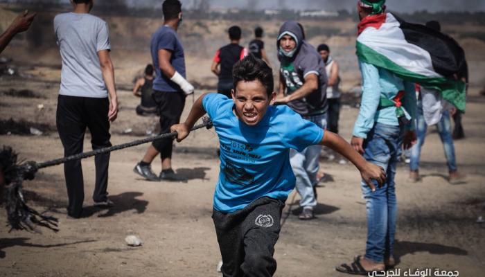 """من جمعة """"الوفاء للجرحى"""" ضمن مسيرات العودة الكبرى في قطاع غزة"""