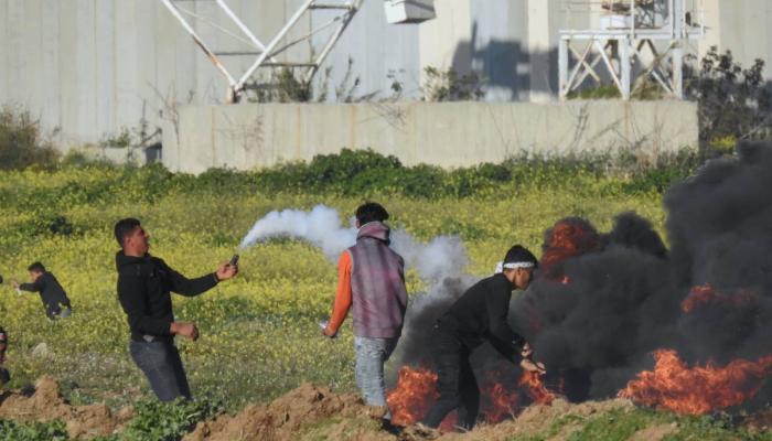 """فلسطين المحتلة - من المشاركة في """"جمعة المرأة الفلسطينية"""" شرقي مدينة غزة اليوم"""