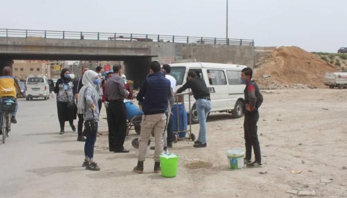 مدخل مخيم جرمانا للاجئين الفلسطينيين - ريف دمشق