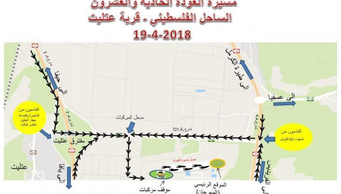 مسيرة العودة الـ21 إلى الساحل الفلسطيني- عتليت