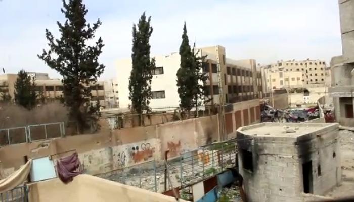 """منطقة دوار فلسطين """"احدى محاور الاشتباك"""""""