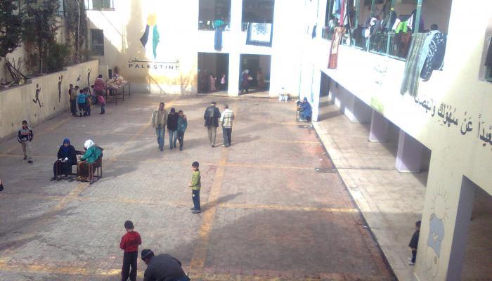 الصورة من داخل مركز حيفا للإيواء في دمشق