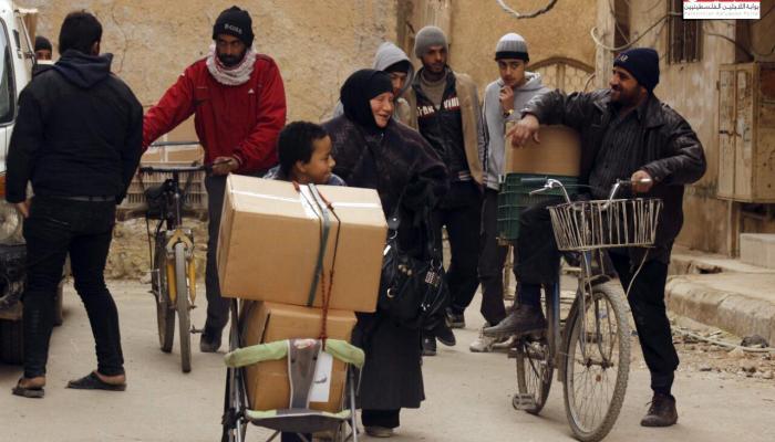 """مؤسسة """"جفرا"""" توزّع سللاً غذائية على أهالي مخيّم اليرموك جنوب دمشق"""