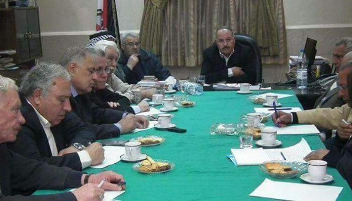 اجتماع تحالف قوى المقاومة الفلسطينية مع اهالي مخيم خان الشيح