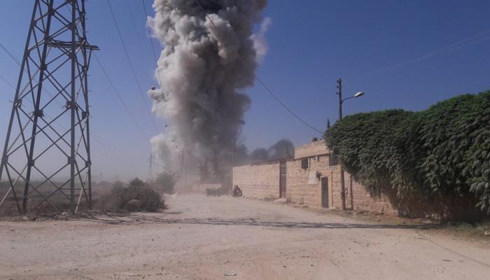 أثناء انفجار مستودع للذخيرة في مخيم النيرب