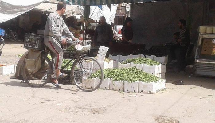 سوق في بلدة يلدا جنوب دمشق