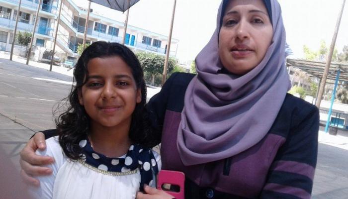 الطالبة حنين عبد الهادي