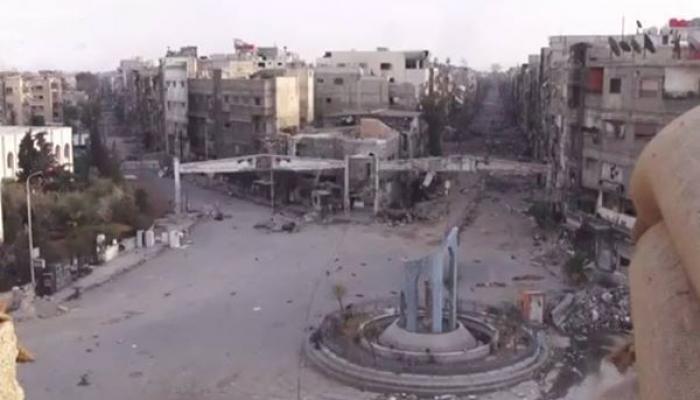 صورة أرشيفية لمدخل مخيم اليرموك