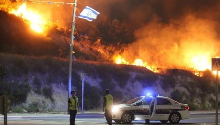 الحرائق تنتشر و الاحتلال يطلب مساعدات دولية لإخمادها