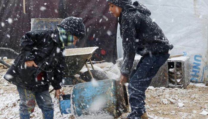 توزيع طرود غذائية على العائلات الفلسطينية السورية في البقاع الأوسط