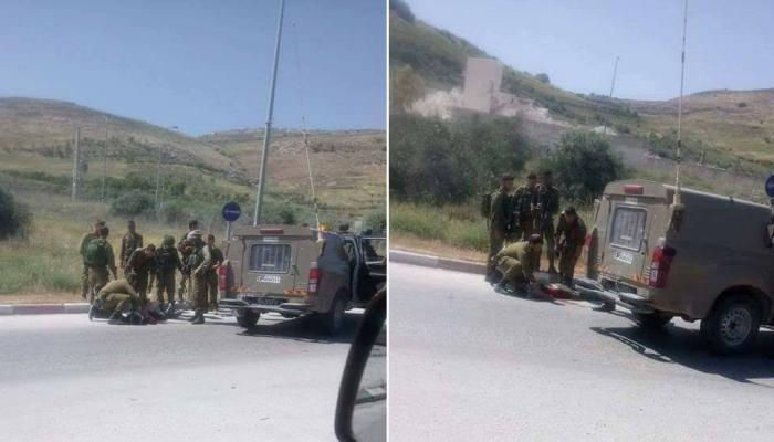 قوات الاحتلال تُطلق النار على فلسطيني جنوبي نابلس