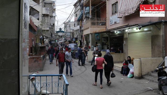 من أحد أزقة مخيم شاتيلا في بيروت
