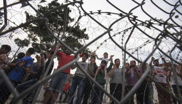 صورة ارشيفية للاجئين في اليونان