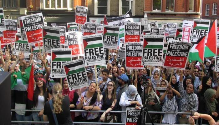 الصورة من مظاهرة سابقة مناصرة لفلسطين في أوروبا