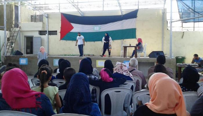 من المسرح التفاعلي في مخيم البداوي