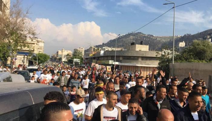 مسيرة تنطلق من مخيم بلاطة تضامناً مع الأسرى