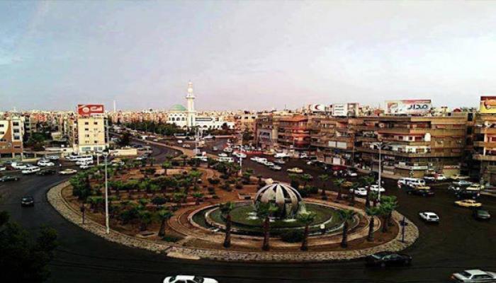"""مدخل مخيّم اليرموك من جهة حي الزاهرة الدمشقي """" أرشيف"""""""
