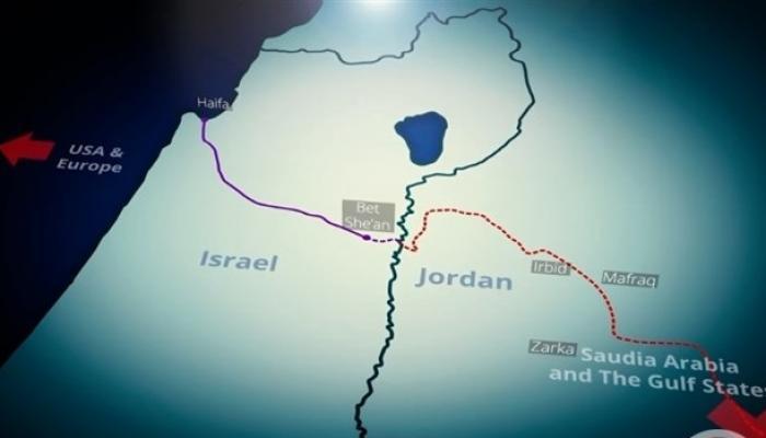 خط نقل بضائع بين الكيان الصهيوني والأردن والسعودية والسلطة الفلسطينية