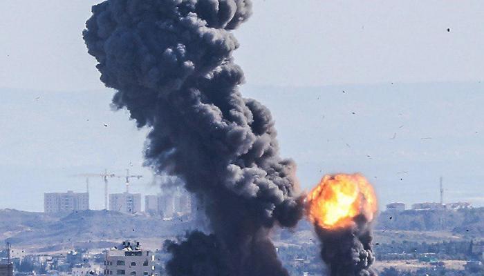 من القصف على قطاع غزة صباح اليوم