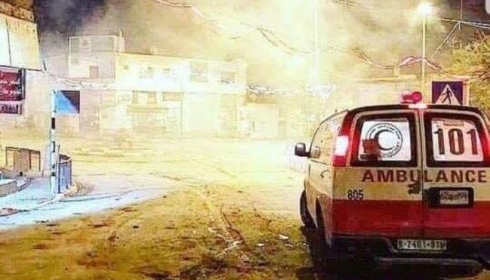 من مُخيّم الأمعري في رام الله المحتلة خلال اقتحام قوات الاحتلال فجر اليوم