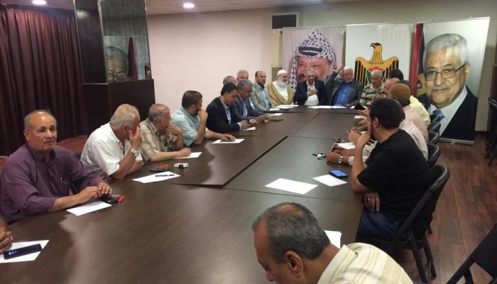 من اجتماع عقدته الفصائل الفلسطينية في مقر سفارة السلطة ببيروت صباح اليوم