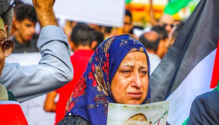 فلسطين المحتلة - محمد ادكيدك: من المسيرة التي خرجت في مدينة رام الله اليوم دعماً للأسرى والقدس وغزة واللاجئين في لبنان