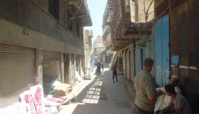 """الطريق المؤدي إلى منطقة """"تحت التكية"""" ببغداد حيث عاش الفلسطينيون بداية لجوئهم"""