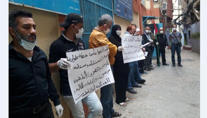 """من اعتصام سابق لفلسطيني سوريا بمخيم برج البراجنة للمطالبة بمساعدات طارئة """" ارشيف"""""""