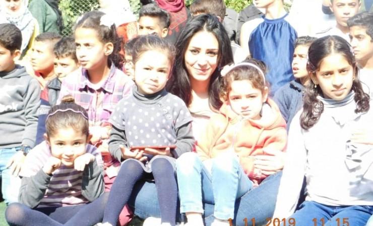 أطفال من مخيم اليرموك مع كاتبة المدونة